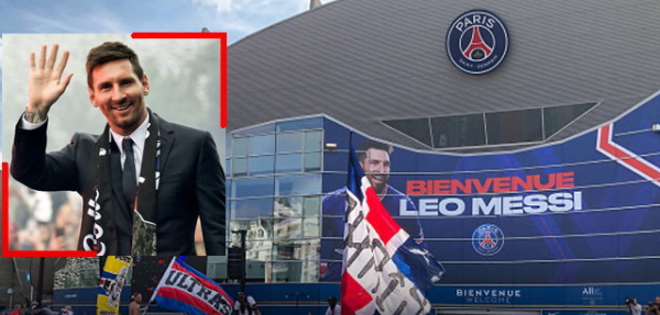 """PSG fans parade to welcome """"Messi"""""""